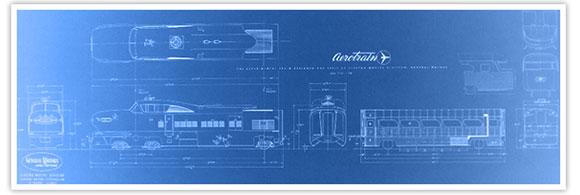 Aerotrain blue prints